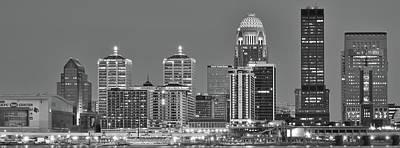 Photograph - Louisville Black And White Panoramic 2016 by Frozen in Time Fine Art Photography