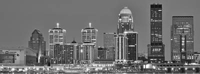 Louisville Black And White Panoramic Art Print by Frozen in Time Fine Art Photography
