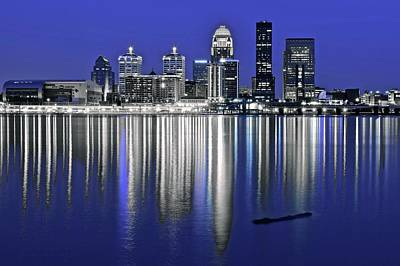 Photograph - Louisville Blue And Silver by Frozen in Time Fine Art Photography