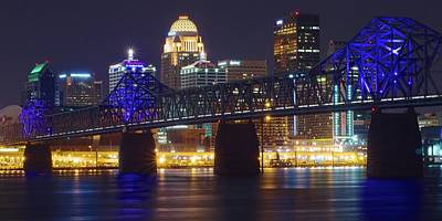 Photograph - Louisville Bridge And City Pano by Frozen in Time Fine Art Photography