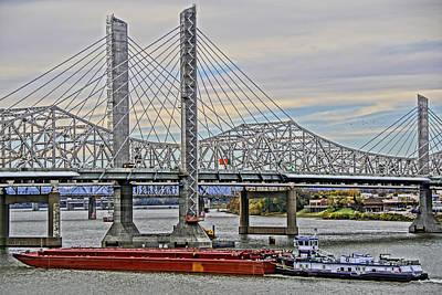 Louisville Bridges Art Print by Dennis Cox WorldViews