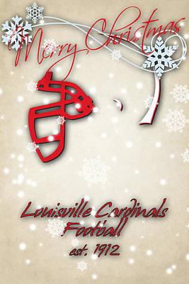 Louisville Cardinals Christmas Card Print by Joe Hamilton