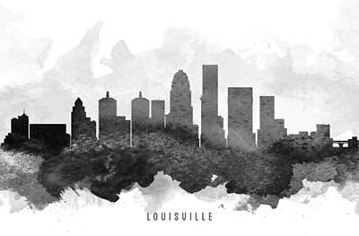 Kentucky Digital Art - Louisville Cityscape 11 by Aged Pixel