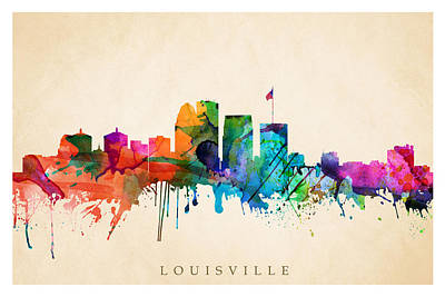 Digital Art - Louisville Cityscape  by Steve Will