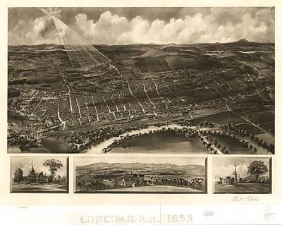 Kentucky Drawing - Louisville, Kentucky 1876 by Baltzgar