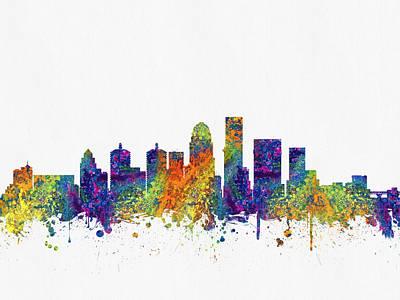 Landscapes Kadek Susanto - Louisville Kentucky skyline color03 by Aged Pixel