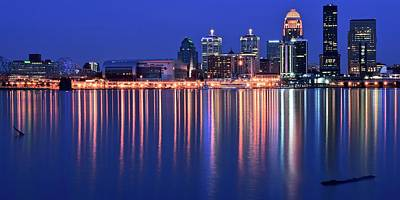 Louisville Lights Up Nicely Art Print by Frozen in Time Fine Art Photography