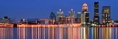 Photograph - Louisville Panoramic At Blue Hour by Frozen in Time Fine Art Photography