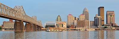 Louisville Panoramic From Indiana Art Print
