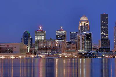 Louisville Skyline At Night Original