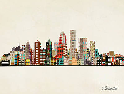 Painting - Louisville Skyline by Bleu Bri