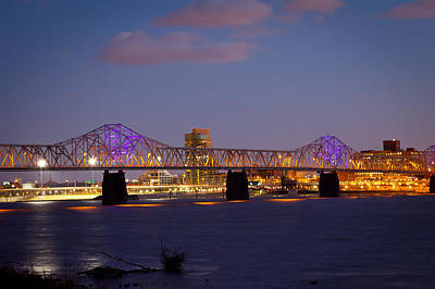 Photograph - Louisville Skyline by Melinda Fawver