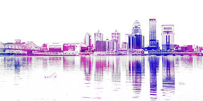Digital Art - Louisville Skyline by Pamela Williams