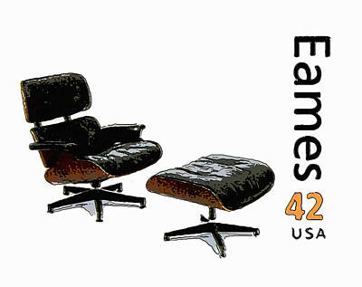 Empty Chairs Painting - Lounge Chair And Ottoman by Lanjee Chee