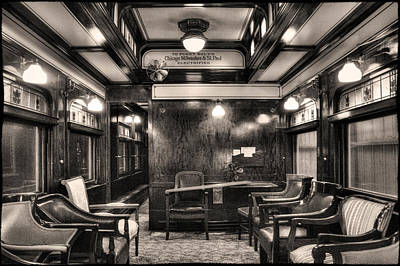 Photograph - Lounge In A Restored Private Rail Car by Roger Passman