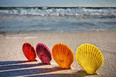 Lounging In Destin Art Print by JC Findley