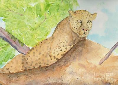 Lounging Leopard Art Print