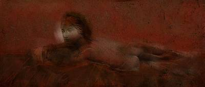 Digital Art - Lounging Nude by Jim Vance