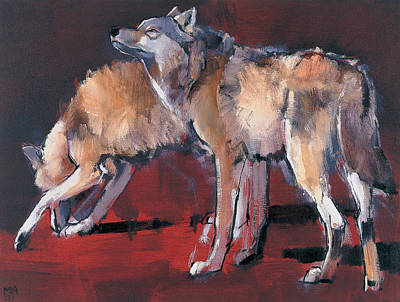 Lupine Painting - Loups by Mark Adlington