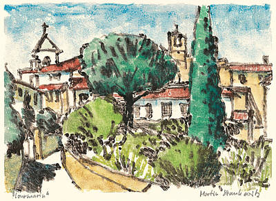 Art Print featuring the painting Lourmarin Provence by Martin Stankewitz
