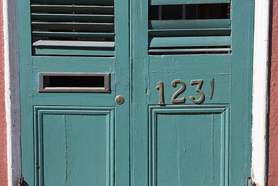 Photograph - Louvered Door At 1231 Royal Street by Gregory Scott