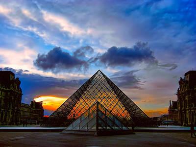 Louvre Digital Art - Louvre Courtyard by Daniel Hagerman