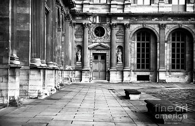 Of Artist Photograph - Louvre Courtyard by John Rizzuto