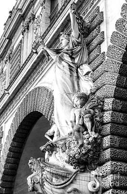 Photograph - Louvre Entrance Sculpture Paris by John Rizzuto