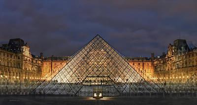 Digital Art - Louvre by Jos Verhoeven