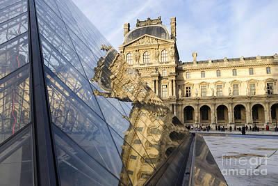 Photograph - Louvre Museum And Palace In Paris, by Perry Van Munster