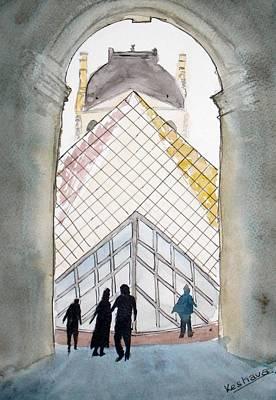 Painting - Louvre Museum by Keshava Shukla