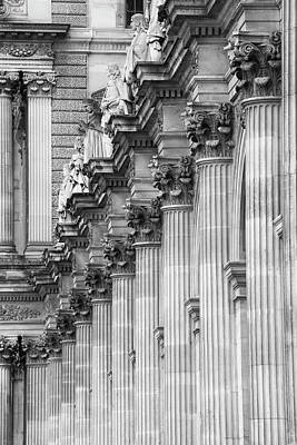 Art Print featuring the photograph Louvre Pillars, Paris, 2015 by Hitendra SINKAR