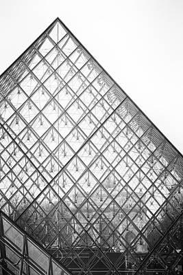 Photograph - Louvre Pyramid by Hitendra SINKAR