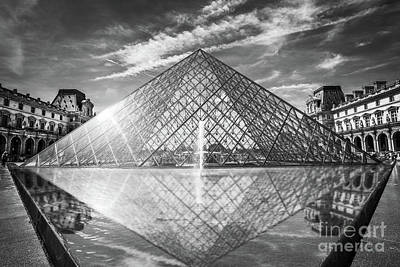 Louvre Wall Art - Photograph - Louvre Pyramid, Paris by Delphimages Photo Creations