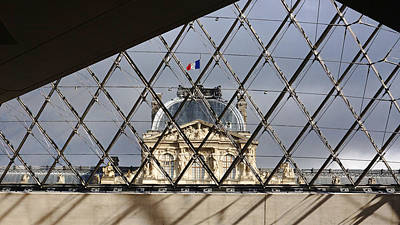 Photograph - Louvre Pyramid Paris France by Lawrence S Richardson Jr