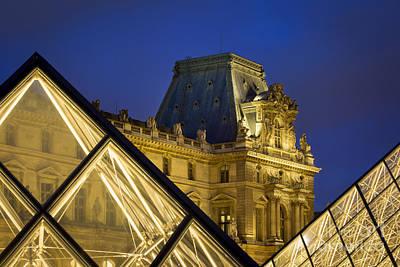 Photograph - Louvre Pyramids by Brian Jannsen