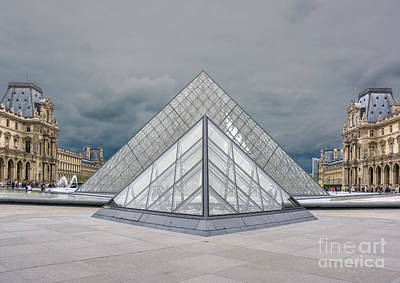 Photograph - Louvre Pyramids by Tim Mulina