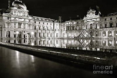 Louvre Reflections Art Print