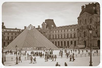 Photograph - Louvre- Sepia Toned by Joe Myeress