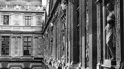 Photograph - Louvre Statues Paris France by Lawrence S Richardson Jr