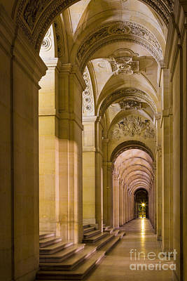 Photograph - Louvre Walkway by Brian Jannsen