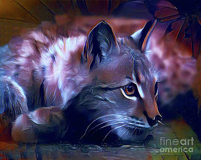 Digital Art - Lovable Feline by Kathy Kelly