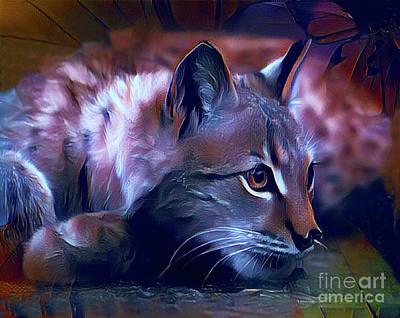 Lovable Feline Art Print