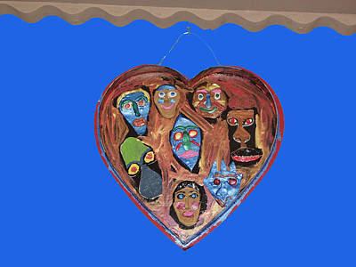 Lovable Funny Faces Art Print by Betty  Roberts