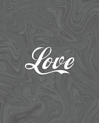 Mixed Media - Love 1 - Minimalist Print by Studio Grafiikka