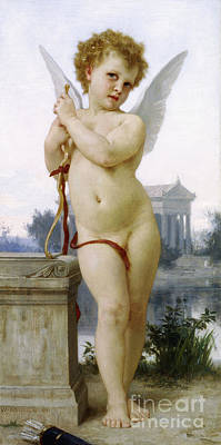 Love, 1891 Art Print by William-Adolphe Bouguereau