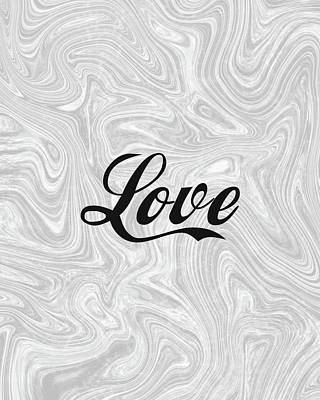 Mixed Media Royalty Free Images - Love 2 - Minimalist Print Royalty-Free Image by Studio Grafiikka