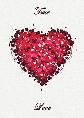 Heart Digital Art - Love - 3 by Prar Kulasekara