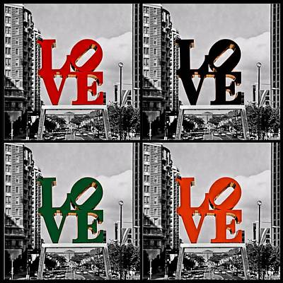 Art Print featuring the photograph Love 4 All by DJ Florek
