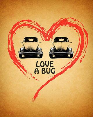 Vw Beetle Photograph - Love A Bug by Mark Rogan